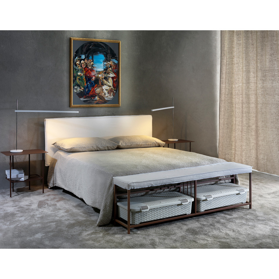 Photos 4: Cosatto Double bed in iron with upholstered headboard VOYAGER