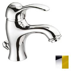 Crolla 9828 Washbasin mixer - chrome gold with drain Dune
