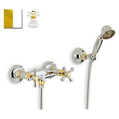 Crolla 818 Shower tap - white gold with duplex Liberty