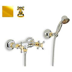 Crolla 818 Ducha tap - flash gold duplex con Liberty