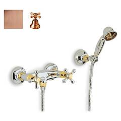 Crolla 818 Shower tap - old copper with duplex Liberty