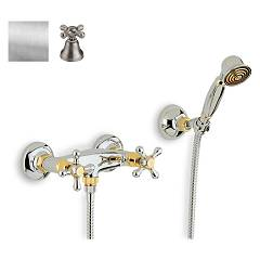 Crolla 818 Shower tap - old silver with duplex Liberty