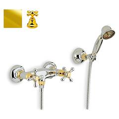 Crolla 818 Shower tap - 24 k gold with duplex Liberty