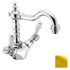 Crolla 7164 Or Single-phone sink faucet - 24 k gold with drain Boston