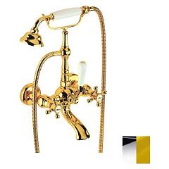 Crolla 7004 Co Tap wall tap - chromgold mit dusche Accademia