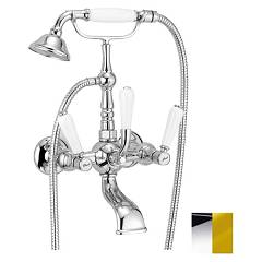 Crolla 7104 Co Tap wall tap - chromgold mit dusche Boston