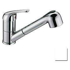 Crolla 7070 Bi Kitchen mixer with shower - white Tecnomix
