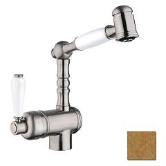 Crolla 850 Vo Kitchen mixer with shower - old brass London