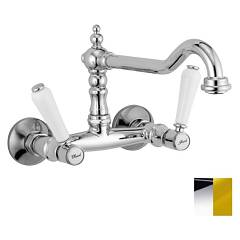 Crolla 7114 Co Wall kitchen tap - chrome gold Boston