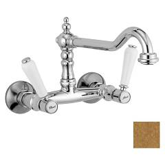 Crolla 7114 Vo Wall kitchen tap - old brass Boston