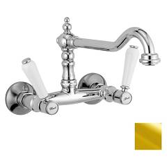 sale Crolla 7114 - Boston Kitchen Faucet Wall Mounted - Gold 24 K