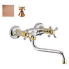 Crolla 814 Vr Wall kitchen tap - old copper Liberty