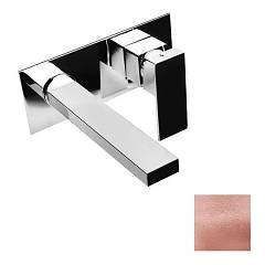 Crolla 49054 Rg Wall mounted basin mixer with spout 18 cm - pink gold Slim