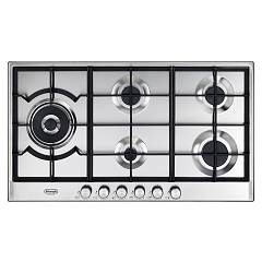 De Longhi Slf590dx 90 cm gas hob - stainless steel Slim