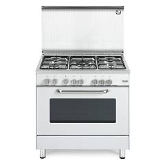 De Longhi Demw85 Striking kitchen cm. 80 - 5 gas burners - white Design