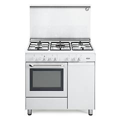 De Longhi Demw96b5 Striking kitchen cm. 90 - 5 gas burners - white Design