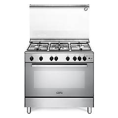 De Longhi Dgvx96 Striking kitchen cm. 90 - 5 gas - stainless steel burners Nuove Design