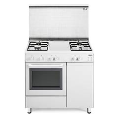 De Longhi Dgw96b4 Striking kitchen cm. 90 - 4 gas burners - white Design