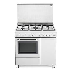 De Longhi Dgw96b5 Striking kitchen cm. 90 - 5 gas burners - white Design
