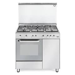 De Longhi Dgx96b5 Striking kitchen cm. 90 - 5 gas - stainless steel burners Design