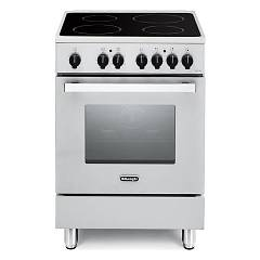 De Longhi Dmw64v Stove kitchen cm. 60 - white - glass ceramic with 4 radiating zones + 1 electric oven Nuove Design