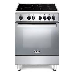 De Longhi Dmx64v Stove kitchen cm. 60 - inox - glass ceramic with 4 radiating zones + 1 electric oven Nuove Design
