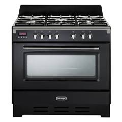 De Longhi Mem965nn Approach kitchen cm. 90 - 5 gas burners - glossy black Mastercook