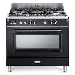 De Longhi Mem965nx Approach kitchen cm. 90 - 5 gas burners - glossy black Mastercook