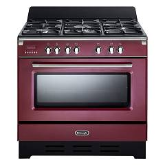De Longhi Mem965ra Approach kitchen cm. 90 - 5 gas burners - bordeaux red Mastercook