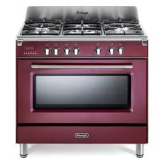 De Longhi Mem965rx Approach kitchen cm. 90 - 5 gas burners - bordeaux red Mastercook