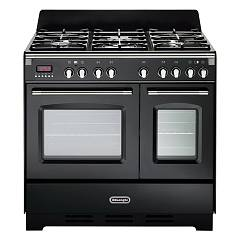 De Longhi Mem965tnn Approach kitchen cm. 90 - 5 gas burners - glossy black Mastercook