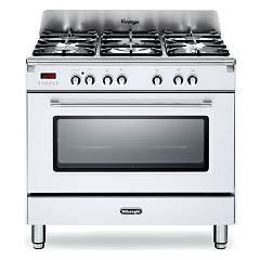 De Longhi Mem965wx Striking kitchen cm. 90 - 5 gas burners - white Mastercook