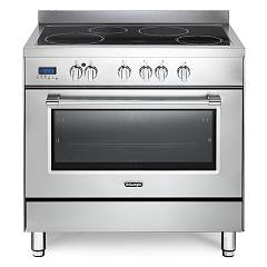 De Longhi Pro96mxin Electric kitchen cm. 90 - 4 induction zones - stainless steel Professional