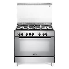 De Longhi Demx96ed 90 cm gas cooker - 5 gas burners - stainless steel