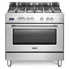 De Longhi Pro96mxed Approach kitchen - 90 cm - 5 gas burners - stainless steel Professional