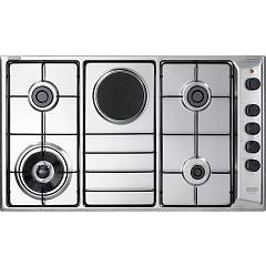 De Longhi Fla49rd Gas hob with electric plate cm. 86 - stainless steel Family