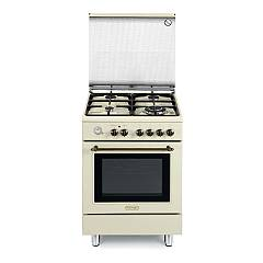 De Longhi Pemb664ced Approach kitchen 60 cm - 4 burners + 1 electric oven - food warmer - cream Country