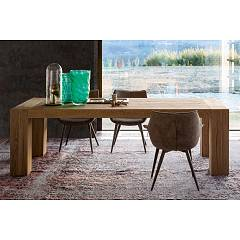 Devina Nais Brooklyn Allungabile Extendable table in solid oak - standard extension