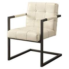 Devina Nais Memphis Armchair - iron sled structure with buffalo leather seat / backrest | soft touch leather