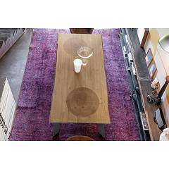 Devina Nais Timber Fixed / extendable table - solid wood top with iron structure | wood | glass