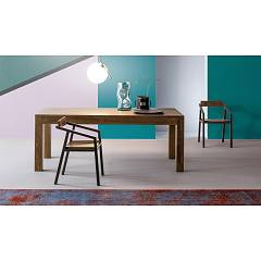 Devina Nais Loki Extendable table in solid oak - standard extension