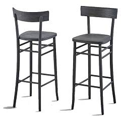 Dialma Brown Db004099 Fixed stool in vintage black beech