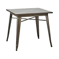 Dialma Brown Db005318 Fixed table l. 80 x 80 in natural metal