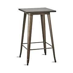 Dialma Brown Db005319 Table de bar fixe l. 60 x 60 en métal naturel