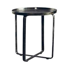 Dialma Brown Db004396 Table ronde fixe d. 40 en fonte d'aluminium couleur fumée