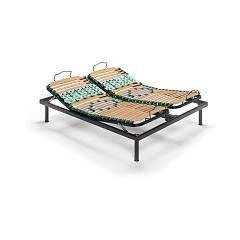 Doimo Materassi Multipla 200 Manual adjustment bed base with wooden and steel frame - 1 and a half square 120x200