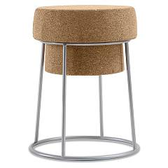 Domitalia Bouchon Stool with seat in cork h.46