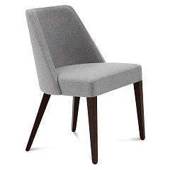 Domitalia Charme Chair in wood and fabric / leather