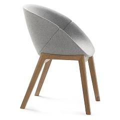 Domitalia Coquille-l Wooden and fabrican armchair