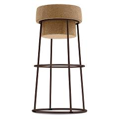 Domitalia Bouchon-sgb Stool with seat in cork h. 66